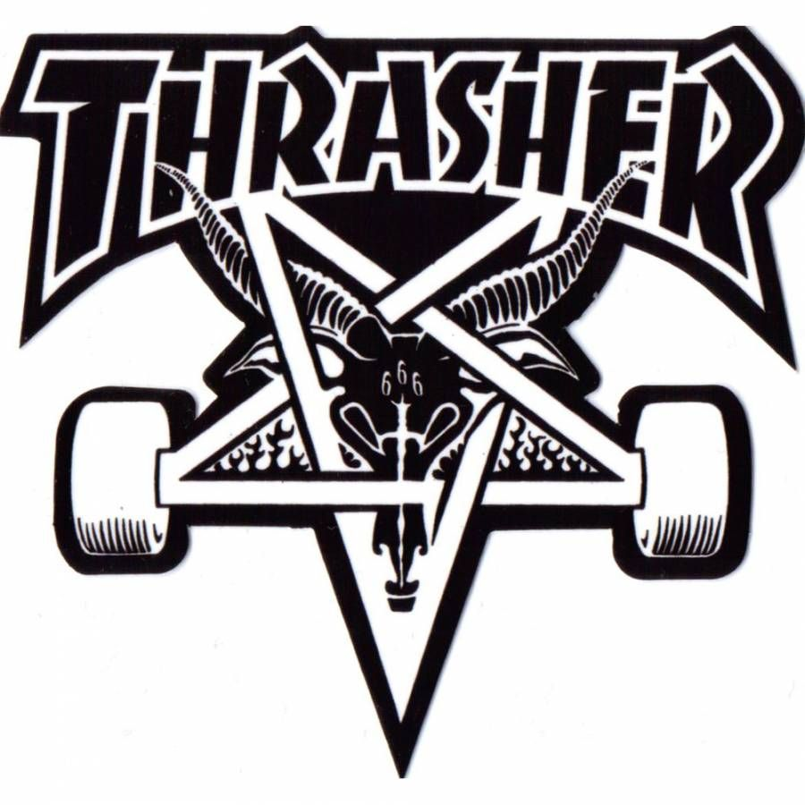 Thrasher skategoat skateboard sticker