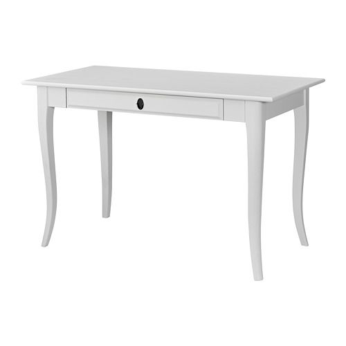 Eckschreibtisch holz ikea  IKEA - LEKSVIK, Bureau, , Massief hout is een slijtvast ...
