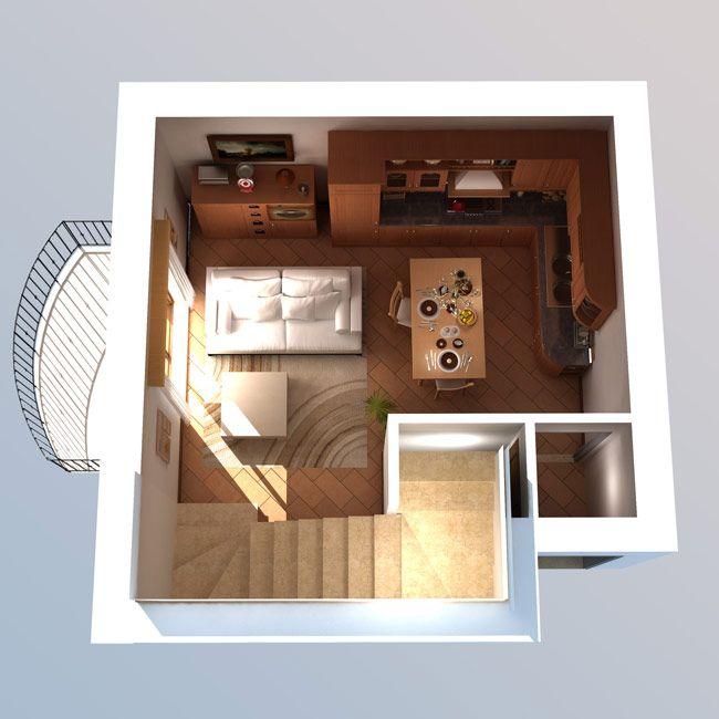 Risultati immagini per piantine appartamenti in 3d
