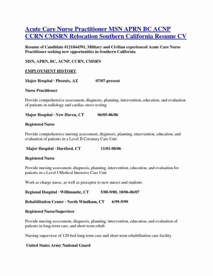 23++ Nurse practitioner student resume examples ideas in 2021