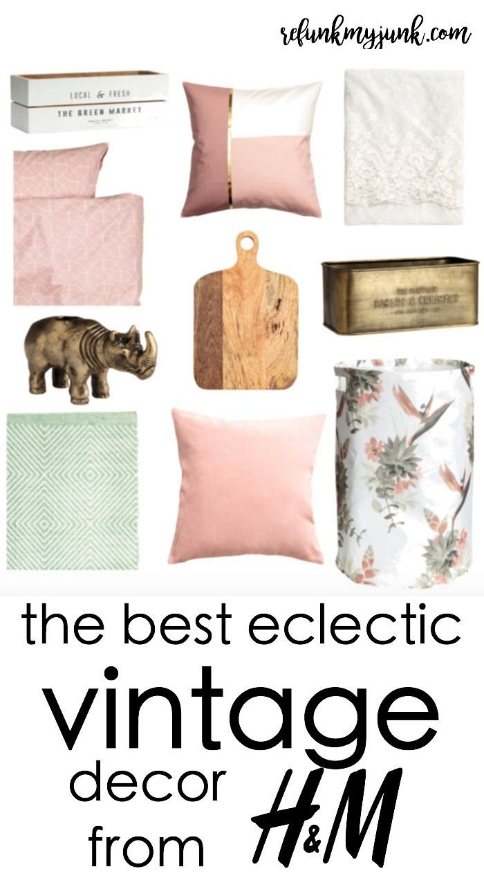Eclectic Vintage Decor from H&M | Decorating Ideas from Refunk My ...