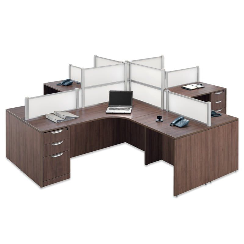 A #quad Desk For 4 People, #office Space On A #budget