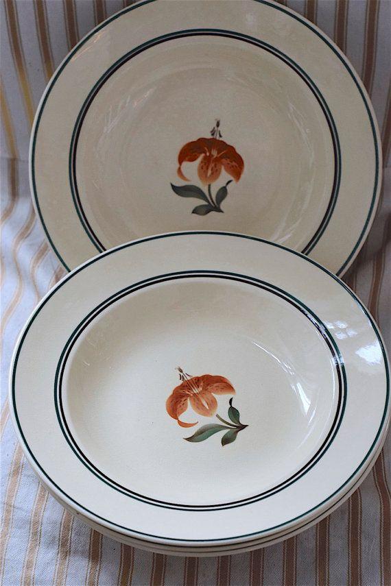 Deep Dish Dinner Plates. Aluminia Jenny Orange & Deep Dish Dinner Plates. Aluminia \