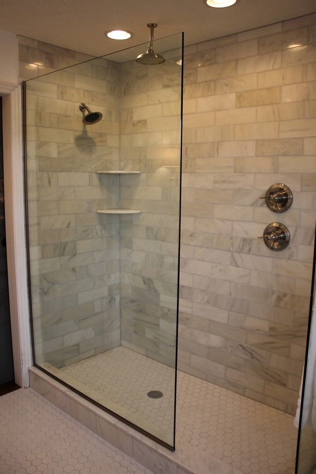 Design of the doorless walk in shower bath showers and master bathrooms Bathroom floor plans walk in shower