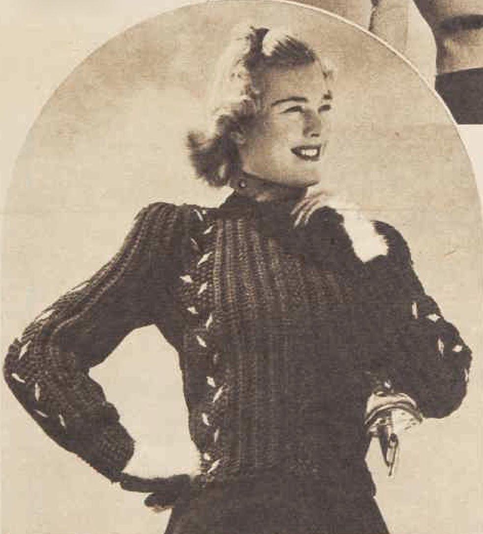 """""""Jill""""Free pattern from the Australian Women's Weekly, 1941"""