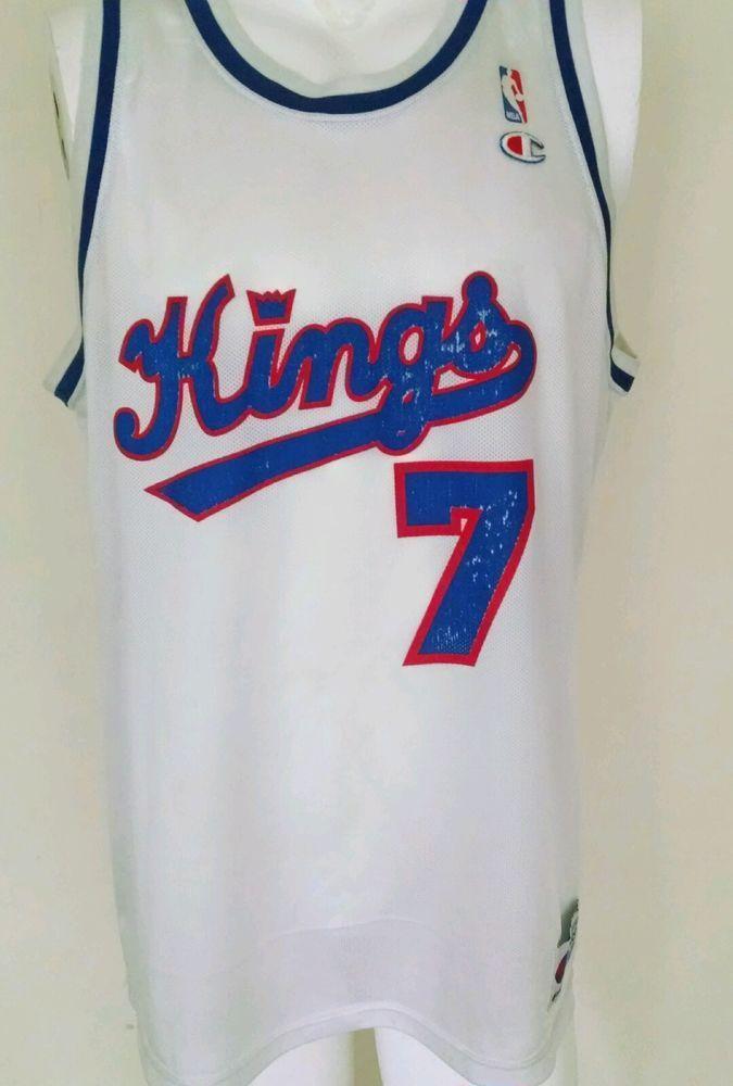 cdd0d3a0fa37 Bobby Hurley Sacramento Kings RARE 100% Original NBA Jersey 1990 S Vintage  48 XL  Champion  SacramentoKings