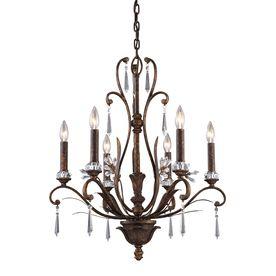 Westmore Lighting Ottawa 6-Light Burnt Bronze Crystal Chandelier ...