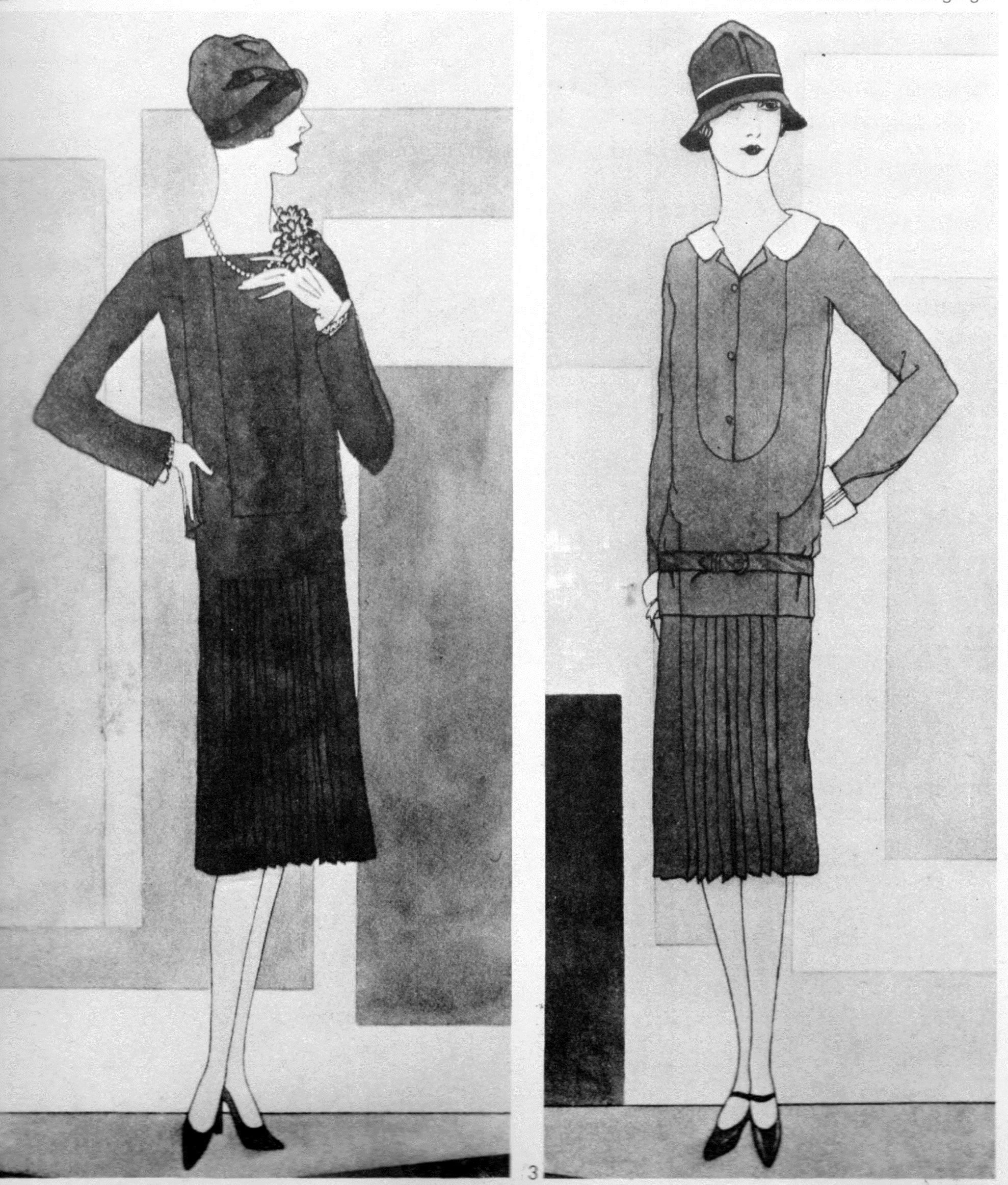 Chanel designs, 1926, in Georgina Howell, In Vogue: Six Decades of Fashion (London: Allen Lane, 1975) 83.