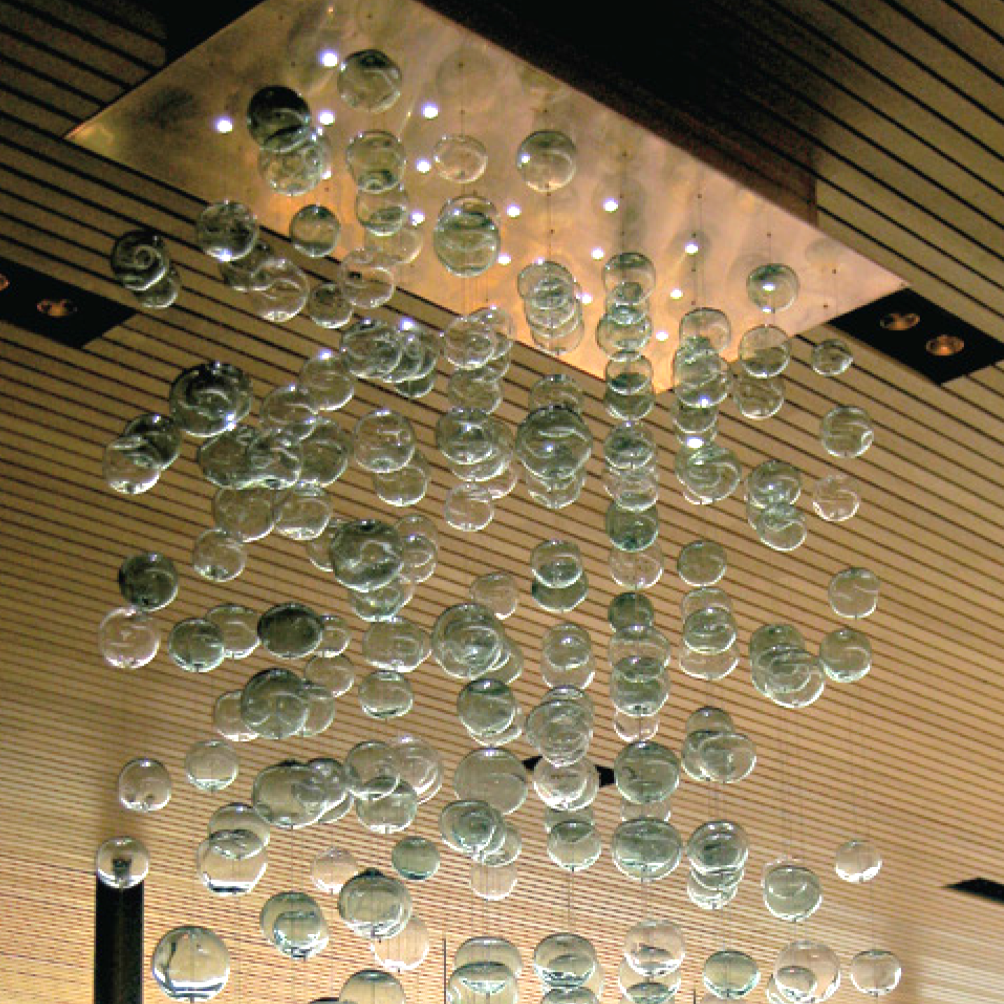 Picture Of Bubbles Blown Glass Chandelier Lighting