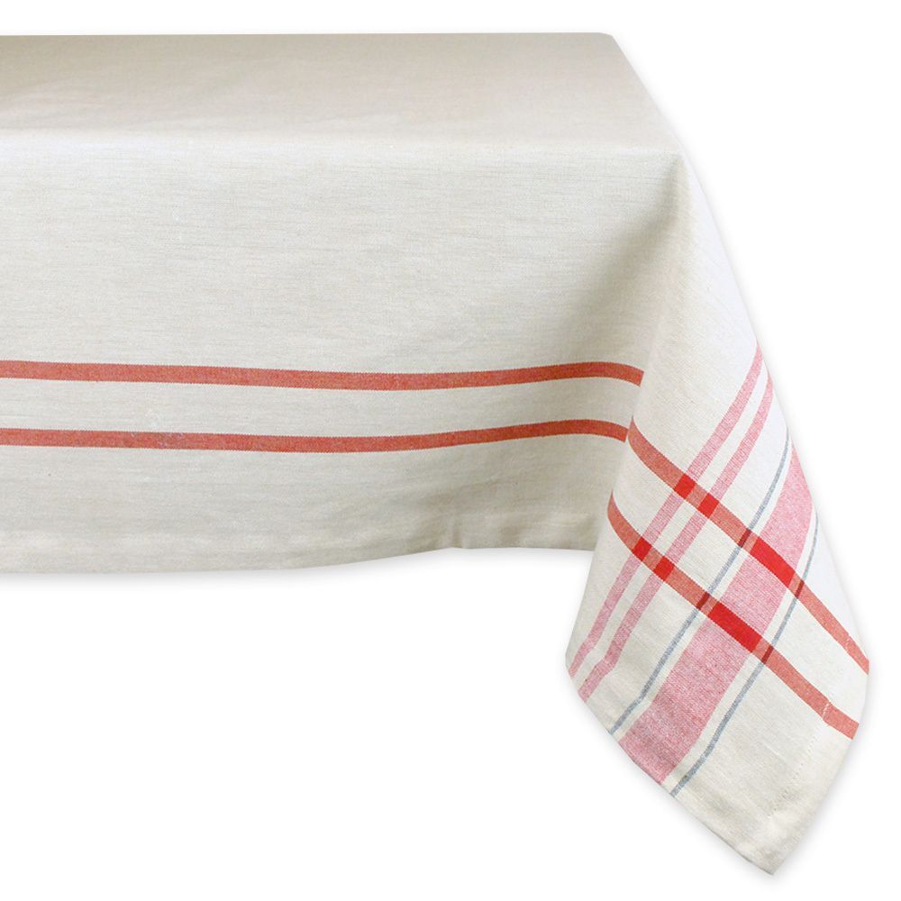 French Red Tablecloth