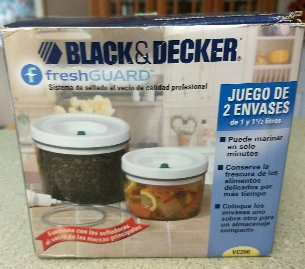 Black & Decker Fresh Guard 2 Size Canister Set 1 Quart and 1 1/2 ...