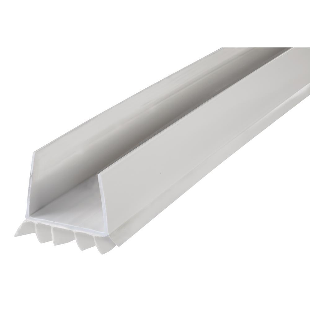 Cinch 36 In White Slide On Under Door Seal 43336 The Home Depot In 2020 Vinyl Doors Door Sweep Door Seals