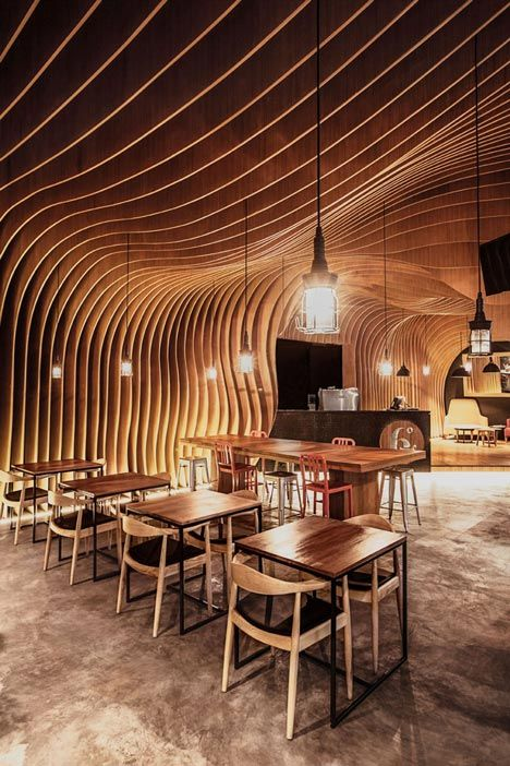 6 Degrees Cafe in Indonesia by OOZN Design   Work places Interior ...