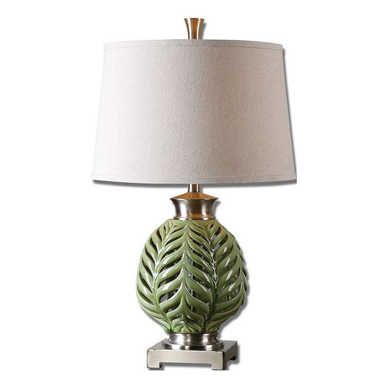 Flowing Fern Table Lamp Green Table Lamp Metal Table Lamps Table Lamp
