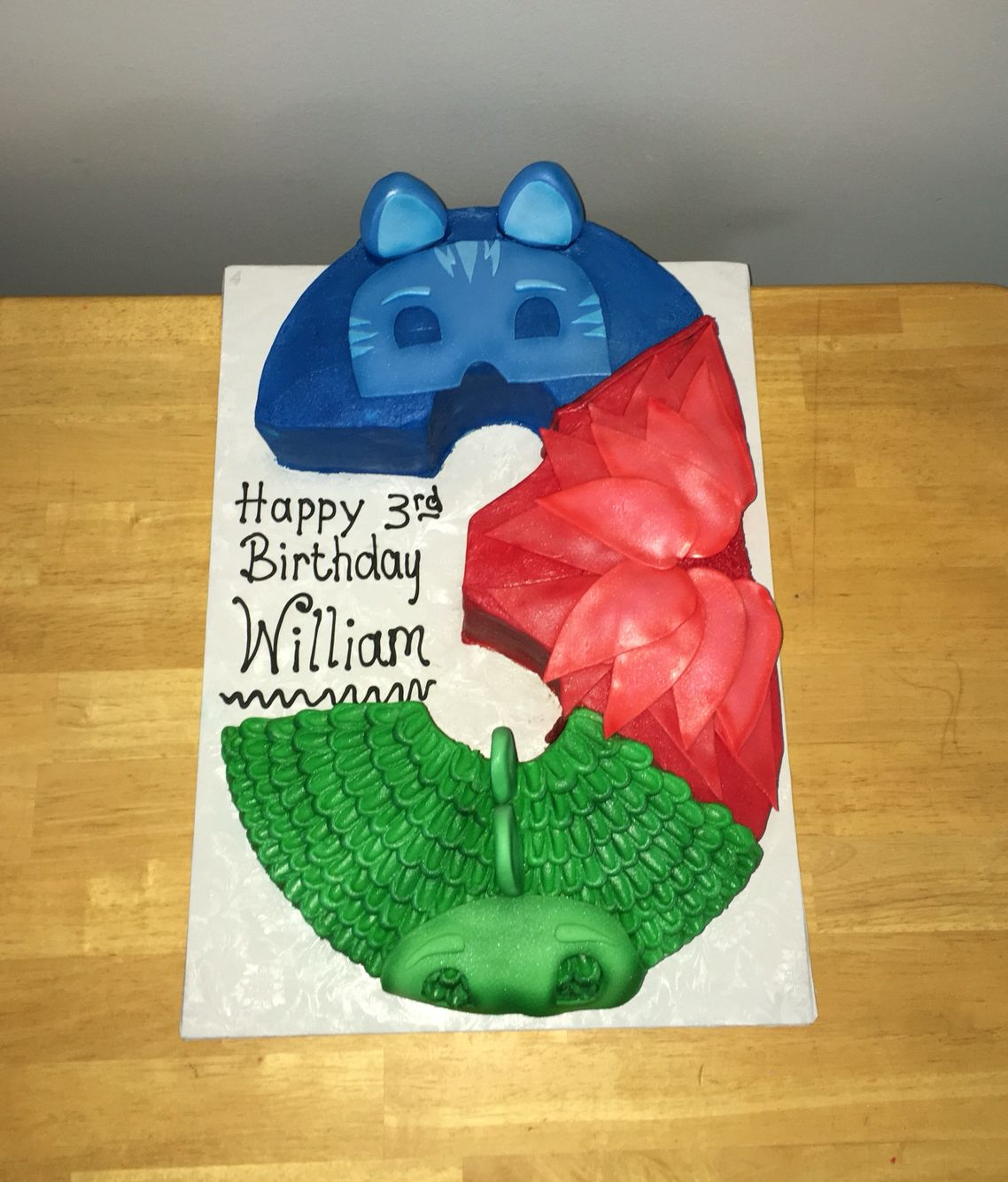Pj Masks Cake With Images Boy Birthday Parties Pj Masks