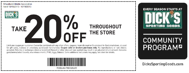 October 2013 shopping day 20 percent off coupon dicks sporting goods october 2013 shopping day 20 percent off coupon dicks sporting goodsg 761294 pixels fandeluxe Images
