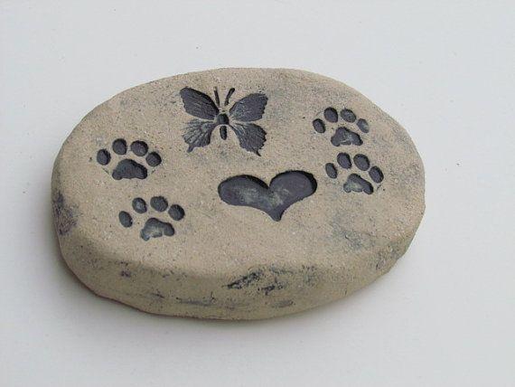 small cat memorial stone
