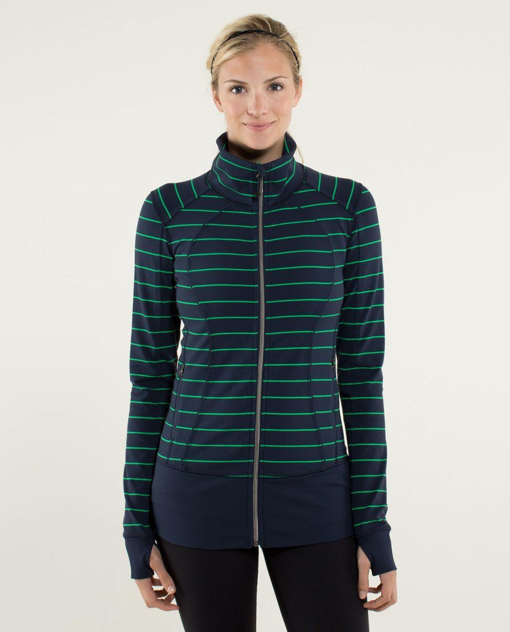 57843e5ebb Lululemon Nice Asana Jacket - Slalom Stripe Inkwell / Inkwell in ...