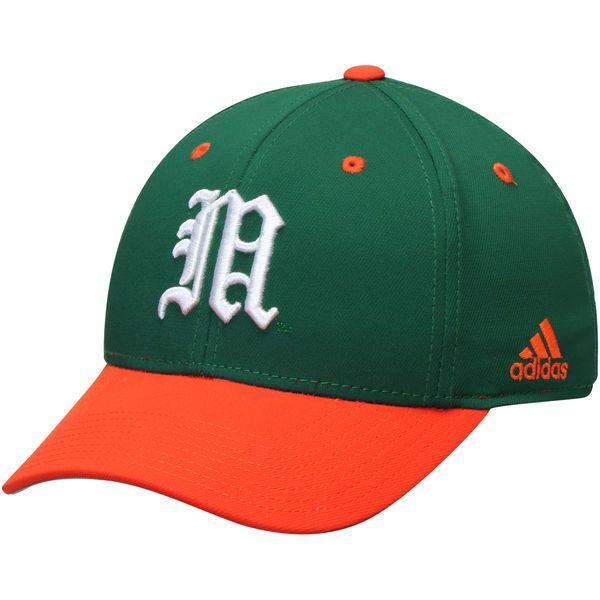 062ae900 ... purchase miami hurricanes adidas on field baseball structured flex hat  green orange 23.99 b396b d1c5f