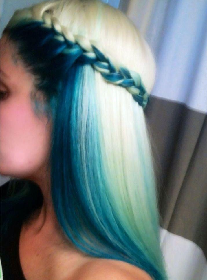 Blonde Hair With Blue Underneath Hair Styles Hair Color Long Hair Styles