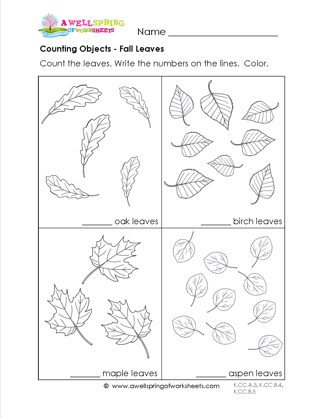 Black And White Counting Worksheet