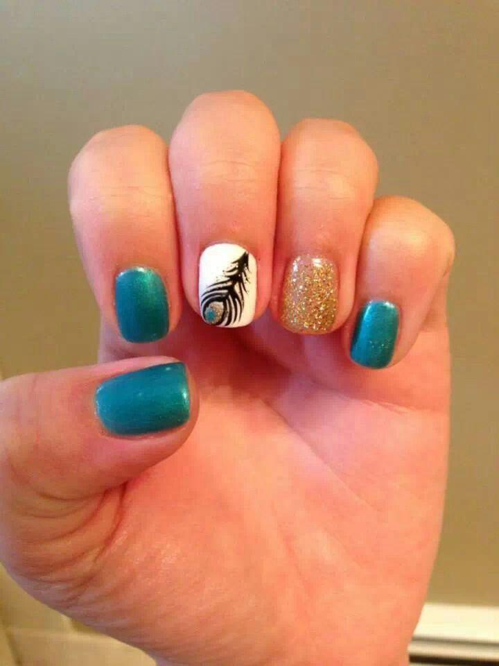 Pluma Pavo Real Nails Style Pinterest Nails Nail Art Y