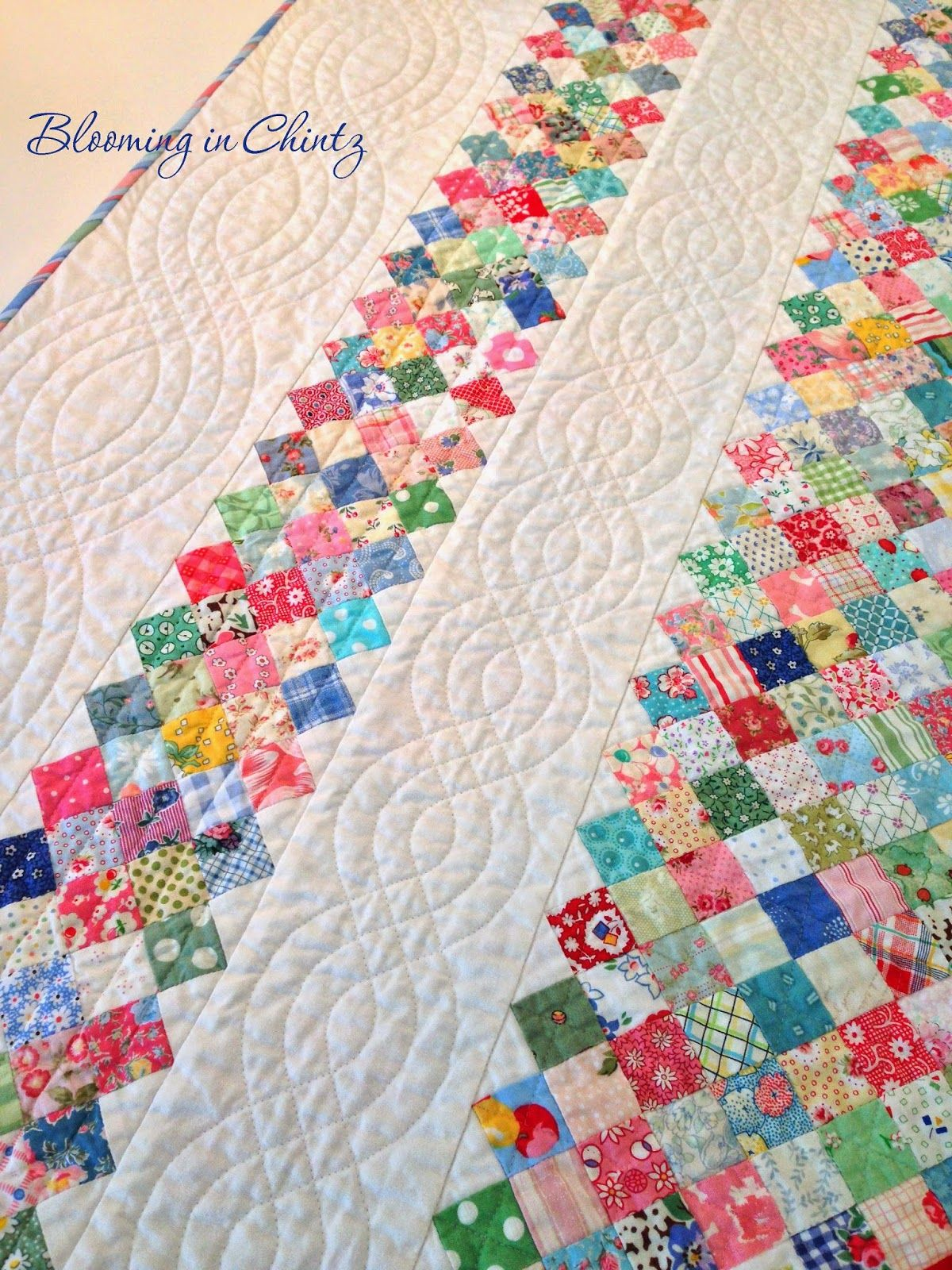Quilting cables with a walking foot on bloominginchintz.blogspot ... : quilting with a walking foot - Adamdwight.com