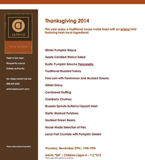 Join us for a farm to fork fresh Thanksgiving dinner at