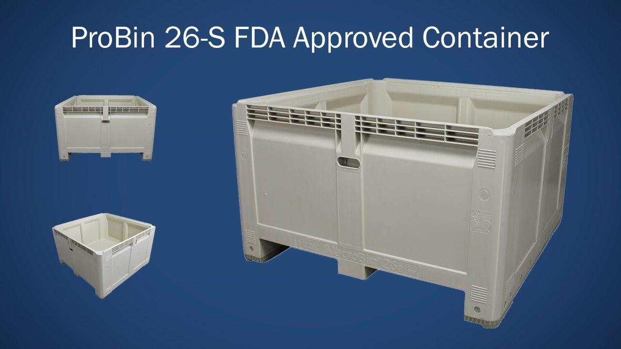 Macro M484828S 26FV ProBin plastic bulk bins are used
