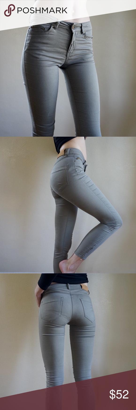 04cd7bb4 Zara army green skinny jeans Zara Basic olive / army green low rise skinny  jeans with zipper ankles. Great condition, barely worn. Fits like 25/26  waist.