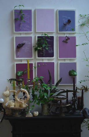 flower wall decals お花の壁飾り