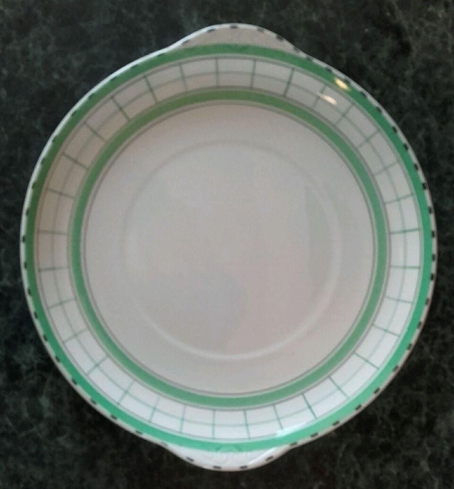 Retro Vintage Deco 30 S Dinner 9 3 4 Plate Sydney British Anchor Cottage Green Pottery Art Deco Deco