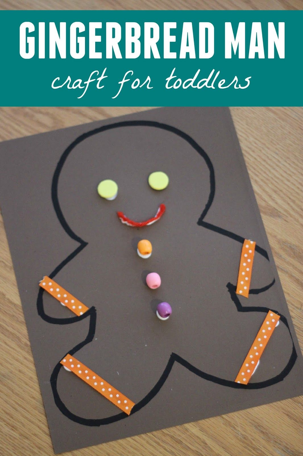 Gingerbread Man Collage Craft