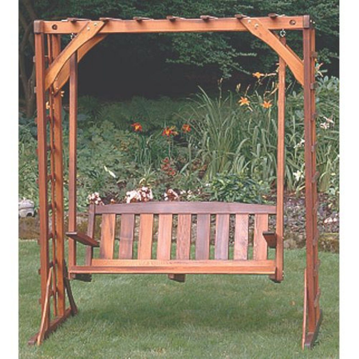 Another simple clean bench design porch swing arbor