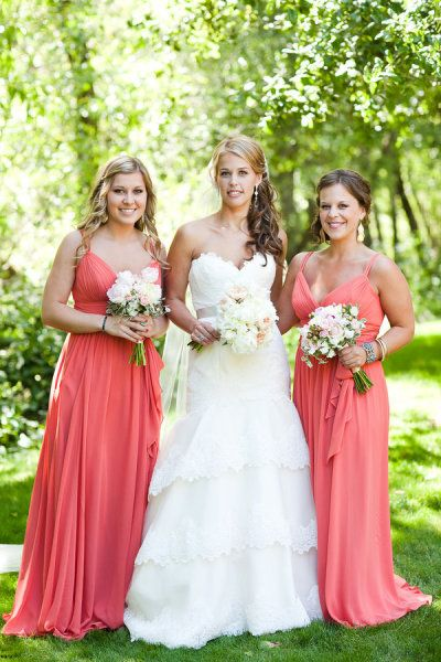 Similar Color Scheme 2 Bridesmaids And Bride
