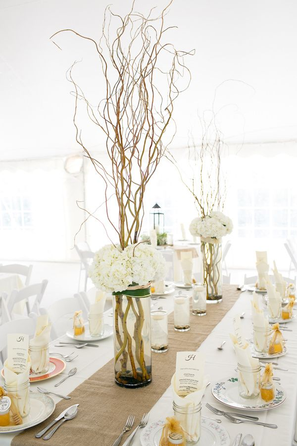 Manzanita branch centerpieces photo by kina wicks