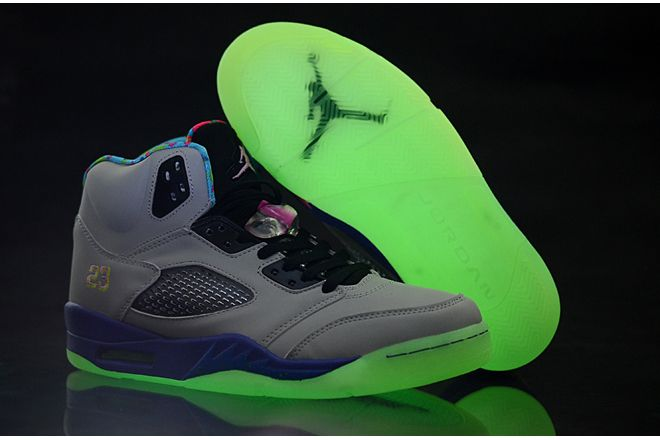 wholesale dealer b5061 464d4 ... ireland bel air air jordan 5 retro glow in the dark cool grey court  purple game