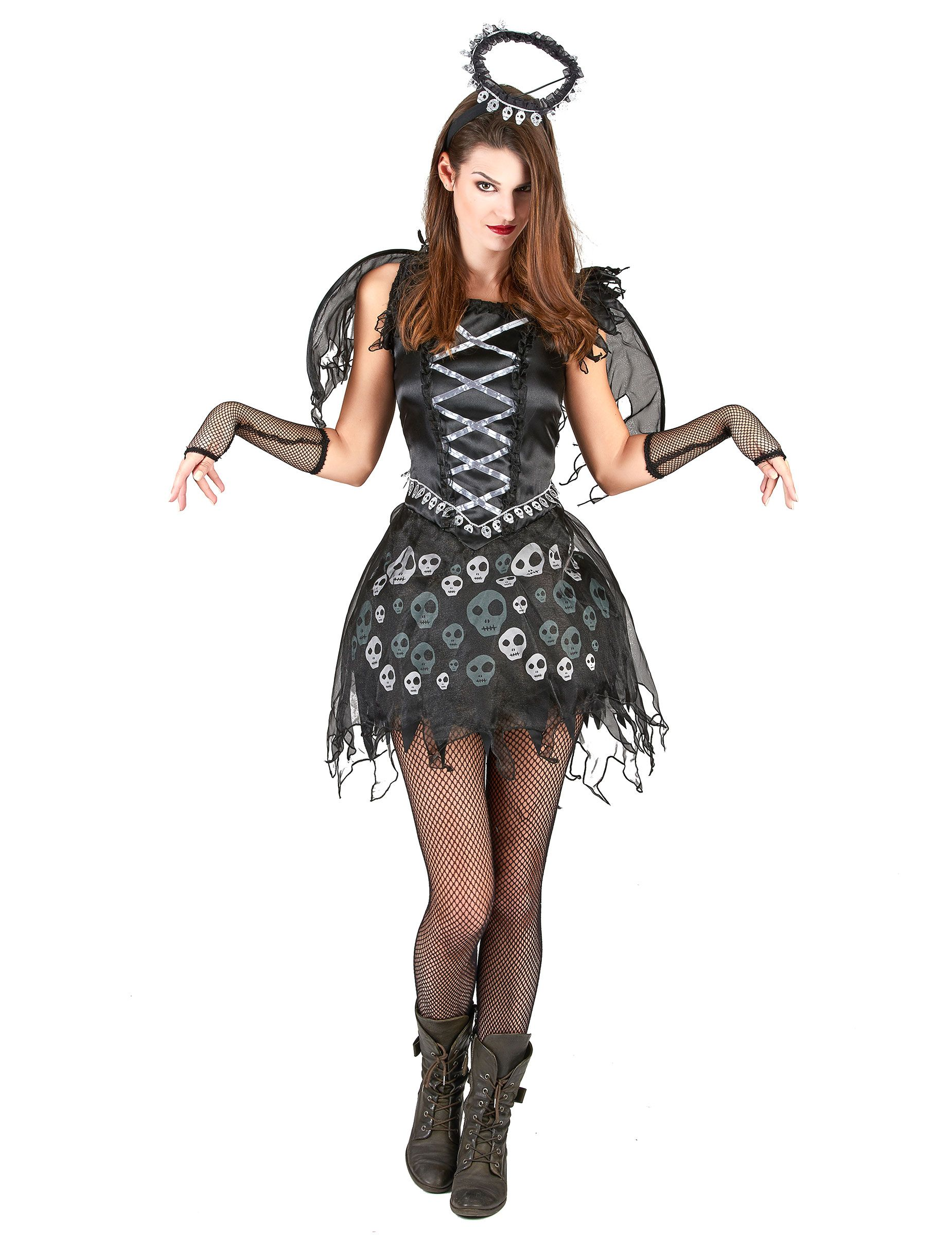 9d32ce7e492b Disfraz de ángel gótico para mujer  Este disfraz de ángel gótico para mujer  está compuesto