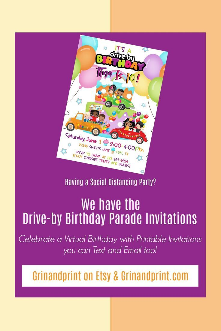 Drive by birthday drive by birthday invite drive by