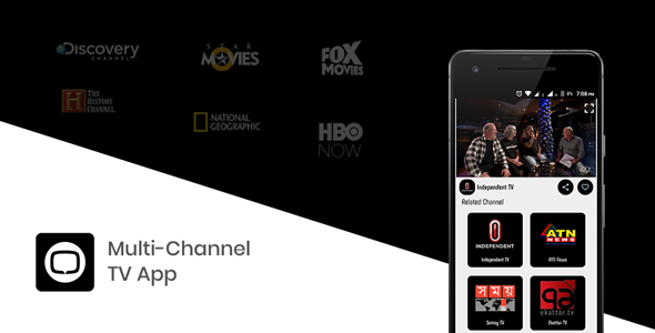 Multi Channel TV Streaming App with YouTube and IP TV