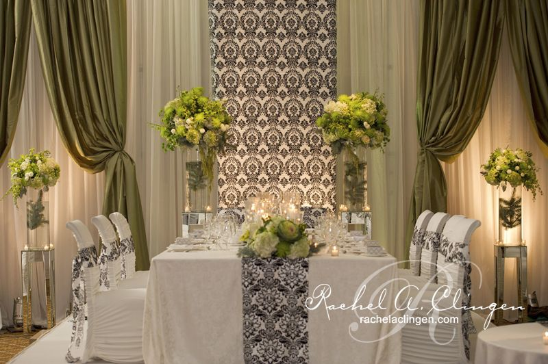 King Edward Style Head Table Via Rachel A. Clingen Wedding