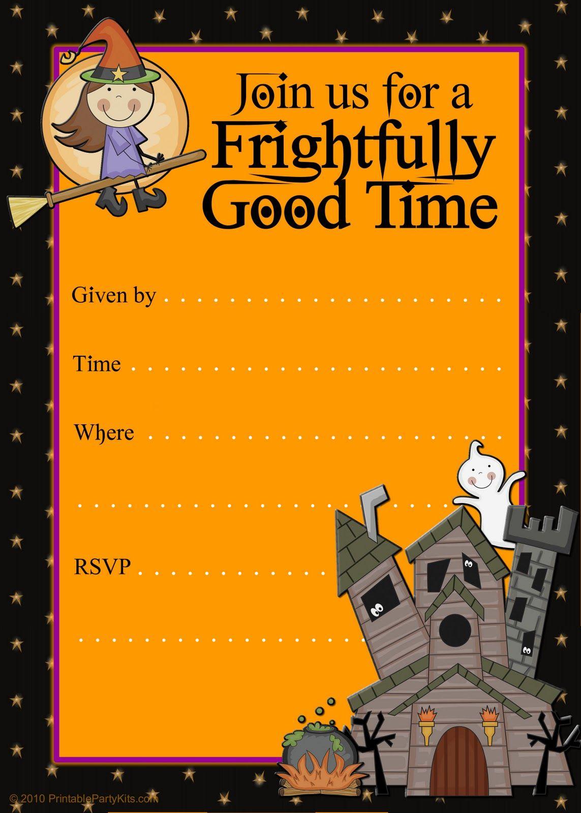 halloween party invitations | Halloween Party Invitation Templates ...