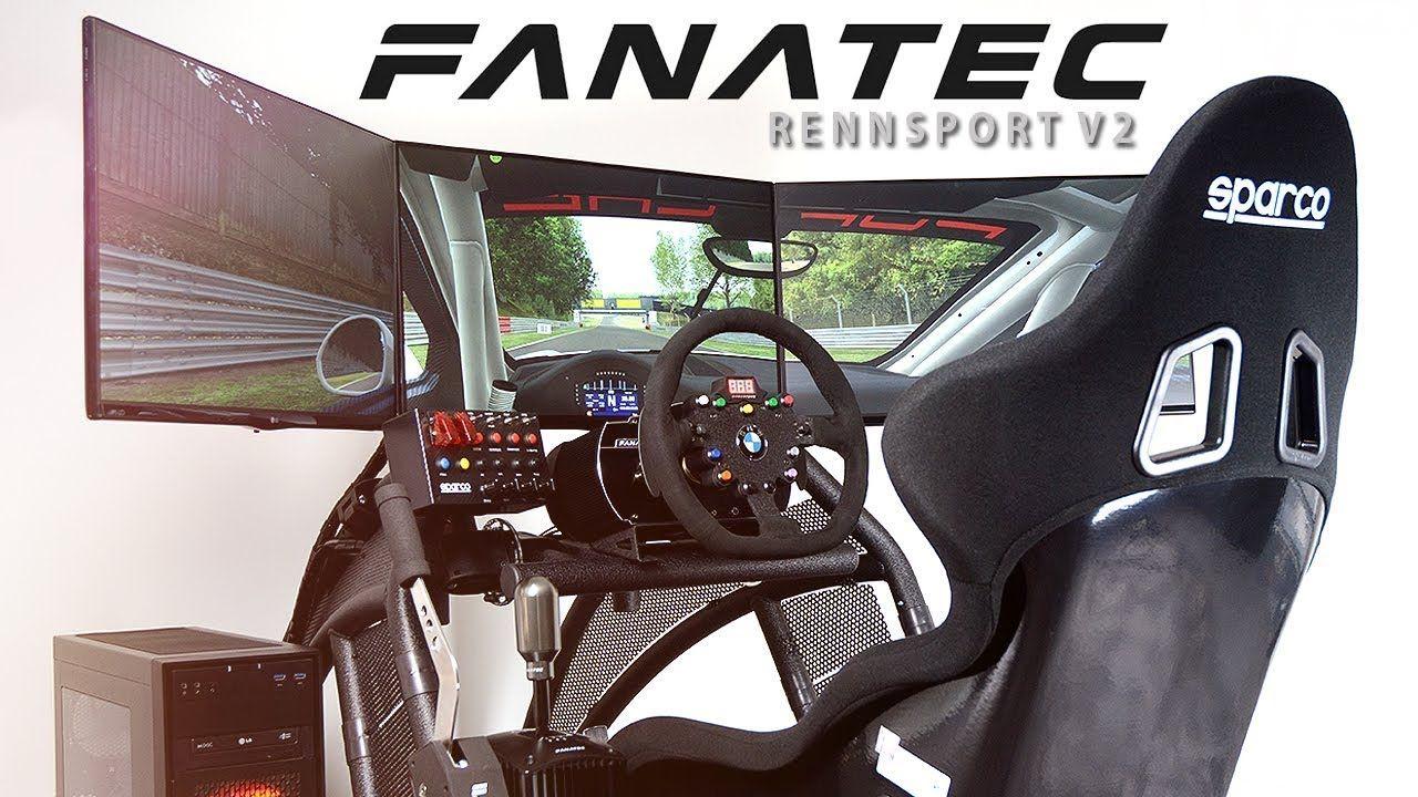 Fanatec rennsport v2 simracing rig build racing