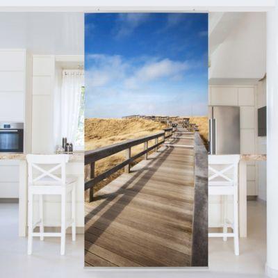 Raumteiler Vorhang - Nordseespaziergang 250x120cm Wohnzimmer