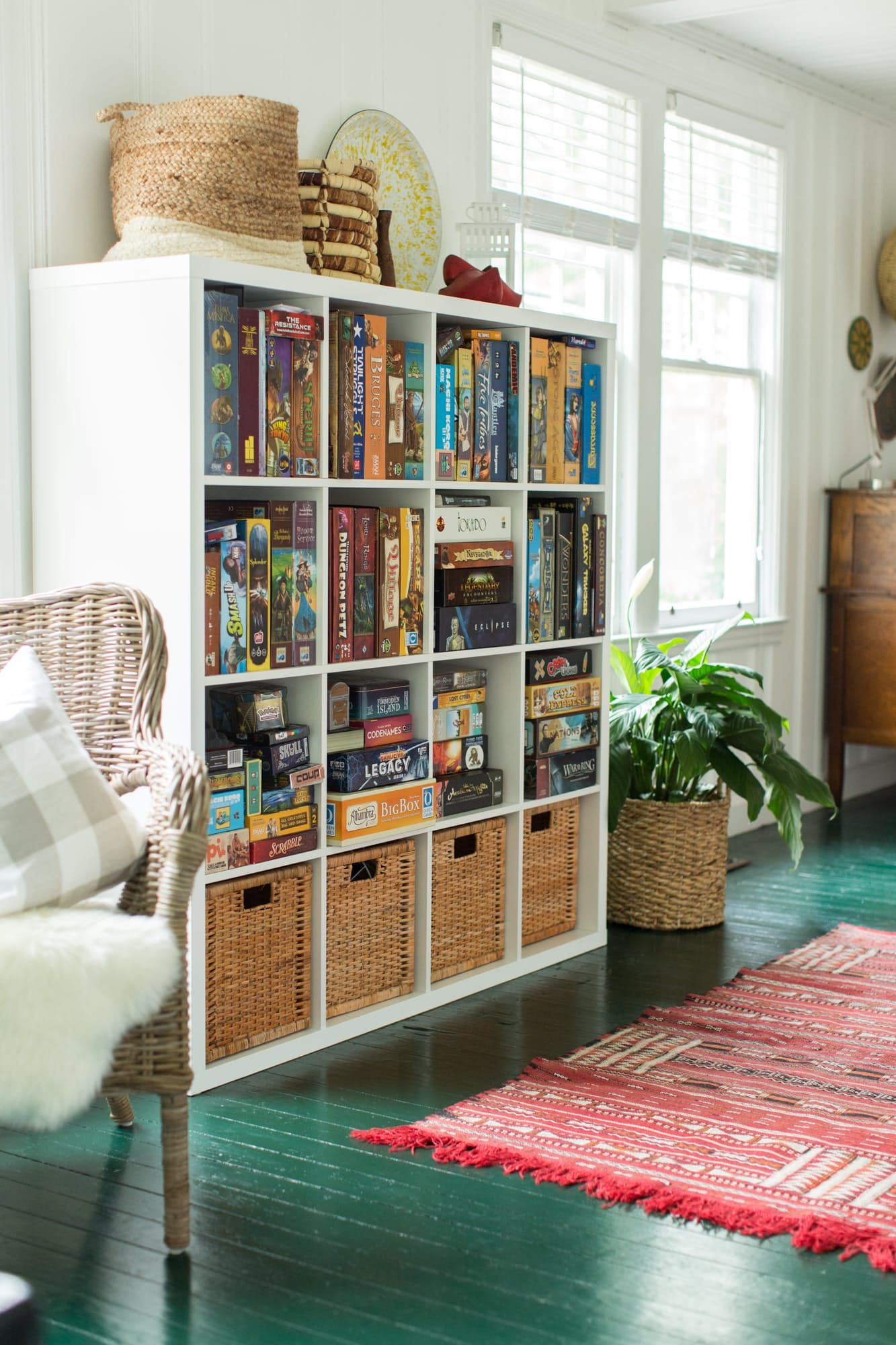 The Shelving Also From Ikea Houses Manny S Impressive Board Collection Rug