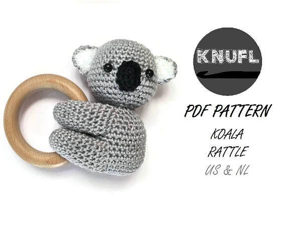 CROCHET PATTERN rattle Koala | Crochet, Patterns and Amigurumi patterns