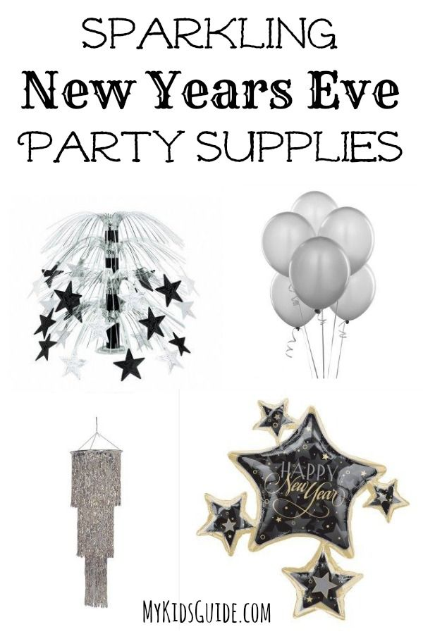Sparkling New Years Eve Party Supplies for Kids  Adults New years