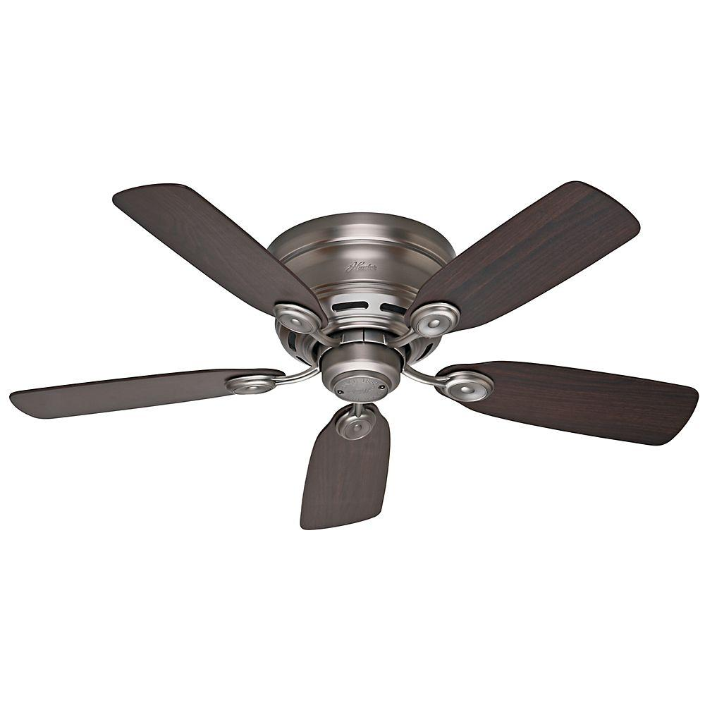 Hunter Low Profile Iv 42 In Indoor Antique Pewter Ceiling Fan