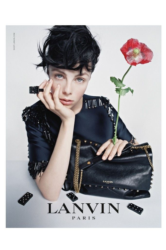 lanvin 2014 fall campaign4 Edie Campbell & Her Family Front Lanvins Fall 2014 Campaign