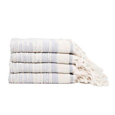 Bungalow Rose Shaler Tassle Fringe Turkish Cotton Hand Towel In